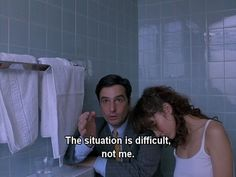 The situation is difficult, not me.