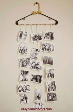 25 Wonderful and Striking DIY Photo Collage Ideas to Personalize Your Bedroom Decor Diy Photo, Photo Ideas, Easy Diy Crafts, Home Crafts, Room Decor Bedroom, Diy Room Decor, Bedroom Ideas, Diy Bedroom, Bedroom Simple