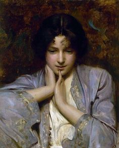 """Portrait of a Girl"", 1896 by Arthur Hacker (1858-1919, United Kingdom)"