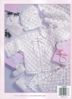 Free Crochet Baby Layette Patterns | lacy layettes baby crochet pattern book lacy layettes 2937 leisure ...
