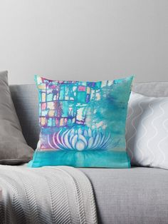 Created to evoke peace and harmony within. Peace And Harmony, Designer Throw Pillows, Lotus Flower, Pillow Design, Finding Yourself, It Is Finished, Artists, Unique, Flowers