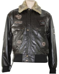 Mens Real Leather Jacket Bomber Aviator Style Badge Design Brown Jacket has a very well standard fit design with Vintage effect.  #menswear #style #vintage #shopping #jacket #clothing #vintage