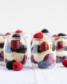 Berries with White Chocolate Mascarpone. The colors work perfectly for the 4th. With the abundance of fresh fruit now available, it makes the perfect summer dessert!