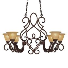 View the Minka Lavery ML 956 6 Light 1 Tier Linear Chandelier from the Belcaro Collection at LightingDirect.com.