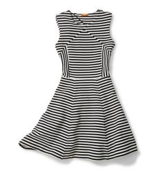 d24da25f5af Classic black and white striped dress from Joe Fresh check! ♥ looks great  with my halter belt! and has the coolest diagonal zipper.