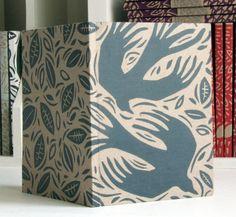 hand-printed pocket notebook - 'crows'