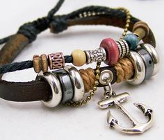 jewellery charm bracelets for men women brown by edwinating, $7.50