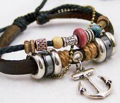 jewellery charm bracelets for men women brown by edwinating, $7.50