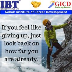 If you feel like giving up, just look back on how far you are already. Feel Like Giving Up, Career Development, Facebook Sign Up, Looking Back, Never Give Up, Success Quotes, How Are You Feeling, Feelings