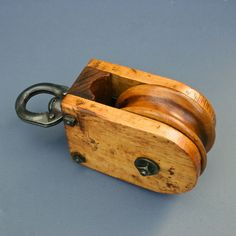 Antique Pulley  Cast Iron and Wood Wheel Pulley by FanshaweBlaine, $69.00