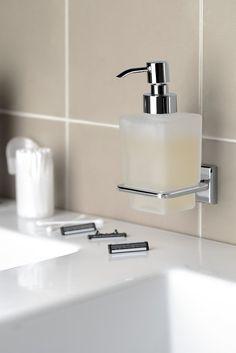 COLORADO dávkovač mýdla, chrom/sklo satin : SAPHO E-shop Soap Dispenser, Bathroom Accessories, Colorado, Sink, Home Decor, Products, Accessories, Bamboo, Soap Dispenser Pump