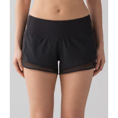 Lululemon Athletica Mind Over Miles Short ($58) ❤ liked on Polyvore featuring activewear, activewear shorts and lululemon