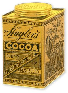 HUYLER'S PURE DELICIOUS CHOCOLATE, 1874-1925 | Exhibition will explore 50-year advertising and marketing design history of this high-end chocolate manufacturer through vintage cocoa tins, chocolate boxes, TRADING CARDS, magazine ads, promotional fans, shop signs, matchbook covers and other ephemera bearing the company's name.
