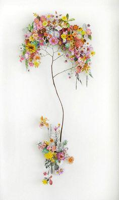 flower construction #13,  60cm x 100cm x 6.5 cm