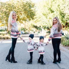 Women Girls Christmas Winter Hoodie Sweatshirt Jumper Sweater Hooded Pullover T-shirt Tops Family Matching Outfits Sweatshirt Ki - ricarda Mother Daughter Outfits, Mommy And Me Outfits, Cute Outfits, Jean Ferrat, Sav And Cole, Cole And Savannah, Ripped Leggings, Sweatshirt Outfit, Sweater Outfits