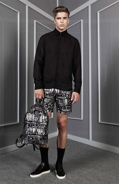 Anzevino-Getty_ss15_lookbook_fy21 Summer Swag, Spring Summer 2015, River Viiperi, Young Models, Mens Fashion, Fashion Outfits, Mens Clothing Styles, Cut And Style, Boy Shorts