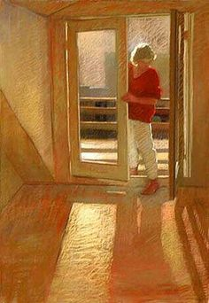 Woman at the Door by Sally Strand