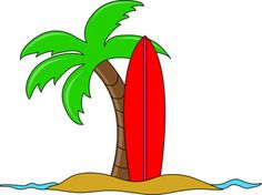 Hawaiian Palm Trees Clip Art | Surfing Clip Art Images Surfing Stock Photos & Clipart Surfing ...