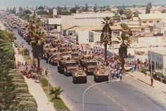 -Thelast Parade of 61 Mech in Walvis Bay ! Military Photos, Military History, South African Air Force, Army Day, Armored Fighting Vehicle, Defence Force, Tactical Survival, Lest We Forget, Military Weapons