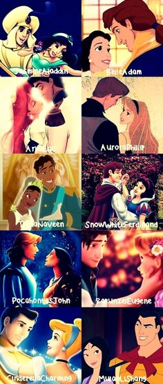 Except Pocahontas and John Smith, she ends up with another John Disney Nerd, Cute Disney, Disney Stuff, Disney Pixar, Walt Disney, Disney Couples, Cute Couples, Prince Eric, Flynn Rider