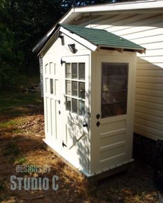 DIY....Build a Shed with Old Doors for Walls Downloadable woodworking plan.