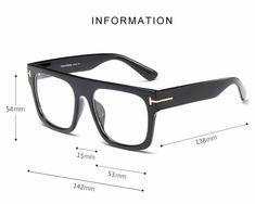 Fashion Tomford Style Optical Square Computer Glasses [Buy 2 get Extra – Vipupon Kingsman, Mens Glasses Frames, Eyeglass Frames For Men, Computer Glasses, Designer Eyeglasses, Prescription Lenses, Eyewear, Mens Fashion, French Decor