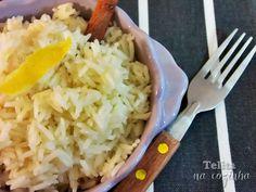 Telita na Cozinha: arroz aromático com limão e canela