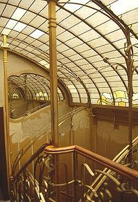 Staircase of the Maison & Atelier of Victor Horta. This building is one of four Horta-designed town houses in Brussels