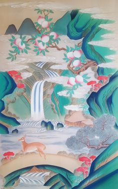 Korean Painting, Chinese Painting, Chinese Art, Art And Illustration, Botanical Illustration, Japanese Calligraphy, Korean Art, Art Painting Gallery, Naive Art