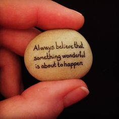 #alwaysbelieve #alwaysbelievethatsomethingwonderfulisabouttohappen #artstone #beachstone #believe #beautifulsayings #cute #faith #greatsayings #happy #hobby #hope #instaart #iloverocks #kindnessrocks #malesten #naturerocks #powerquotes #positivequotes #rocksROCK #rockkindness #sayings #stenmaling