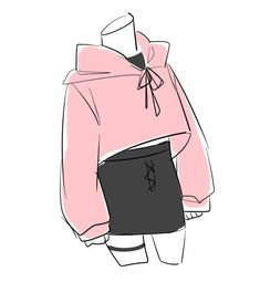Fashion design sketches 581879214344037007 - Source by mimikatychat Manga Clothes, Drawing Anime Clothes, How To Draw Clothes, Manga Drawing, Drawings Of Clothes, Drawing Art, Drawing Sketches, Cute Art Styles, Cartoon Art Styles