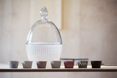 Design by: Monika Kořínková, Porcelain and crystal combination