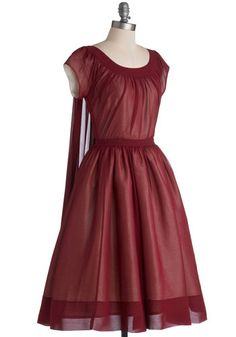 """Old-Fashioned Fanfare Dress - A really unique dress for R, fabric hangs down from the back of the neckline, referencing the """"Robe a la Francaise"""" worn in France in the late 1700s. Soft season? or Dark Autumn, perhaps?"""