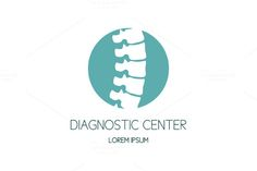 Spine diagnostic center logo by Magic Shop on Creative Market