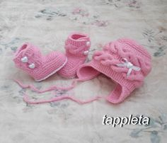 winter set Hat and booties 0-12 months pink clothes newborn knitted socks hearts clothing baptism babyshower gift christmas booties hat booties for girls baby's bootees set knitted handmade knitted socks white newborn baby sale Christmas gift design plaits 15.50 USD #goriani