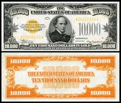Large denominations of United States currency - Wikipedia Money Template, Passport Card, Money Notes, Valuable Coins, Gold Money, Coins For Sale, World Coins, Coin Collecting, United States