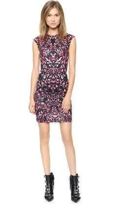 McQ - Alexander McQueen | Cap Sleeve Dress in leopard pixel print