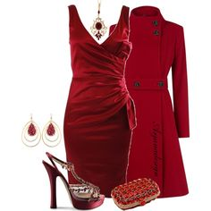 """Lady in Red"" by arjanadesign on Polyvore"
