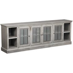 Churchill Grey Console by aspenhome is now available at American Furniture Warehouse. Shop our great selection and save! Long Tv Stand, Large Tv Stands, Churchill, Affordable Furniture, Cool Furniture, Tv Wall Cabinets, Display Cabinets, Tv Built In, Tv Entertainment Centers