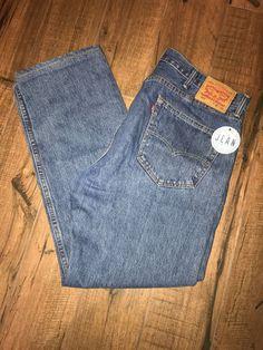 Levi's Men's 505 Regular Fit Jeans Sz 38 x 32 (38x31 actual) Medium Wash 1D #Levis #505RegularFit
