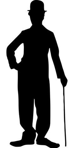 Free Image on Pixabay - Chaplin, Charlie, Silhouette, Actor Charlie Chaplin, Stencil Art, Stencils, My Images, Free Images, Films Western, Silhouette Images, Free Silhouette, Art Africain
