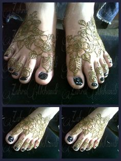 Natural Henna Feet design 2013