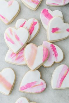 Easy Brushstroke Sugar Cookies - Sugar and Charm - sweet recipes - entertaining tips - lifestyle inspiration