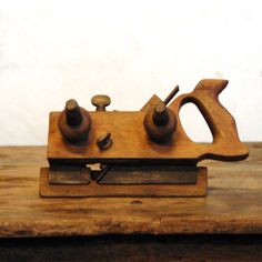 Antique Wood Plow Plane // The Carpenter. $78.00, via Etsy.