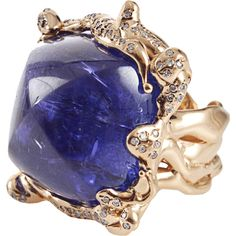 LUCIFER VIR HONESTUS Cabochon Tanzanite Ring ($42,900) ❤ liked on Polyvore