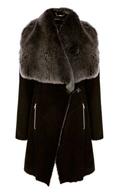 HiSO Raw Edge Genuine Toscana Shearling Coat | Shearling coat and ...