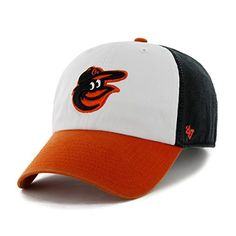 MLB Baltimore Orioles '47 Brand Clean Up Home Style Adjustable Cap, One Size, Black