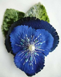 Royal Pansy Corsage