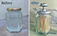 Cabinet Knobs on Jar lids for added wow.  11 DIY Mason Jar Projects