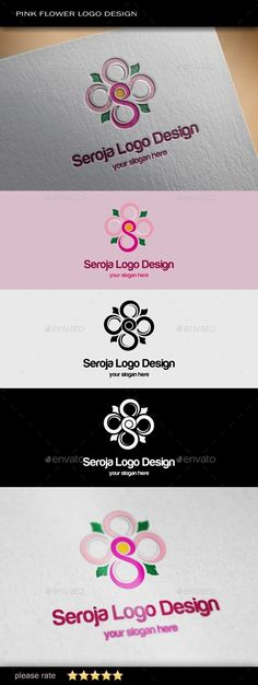 Pink Flower - Logo Design Template Vector #logotype Download it here: http://graphicriver.net/item/pink-flower-logo-template/9239394?s_rank=1674?ref=nexion